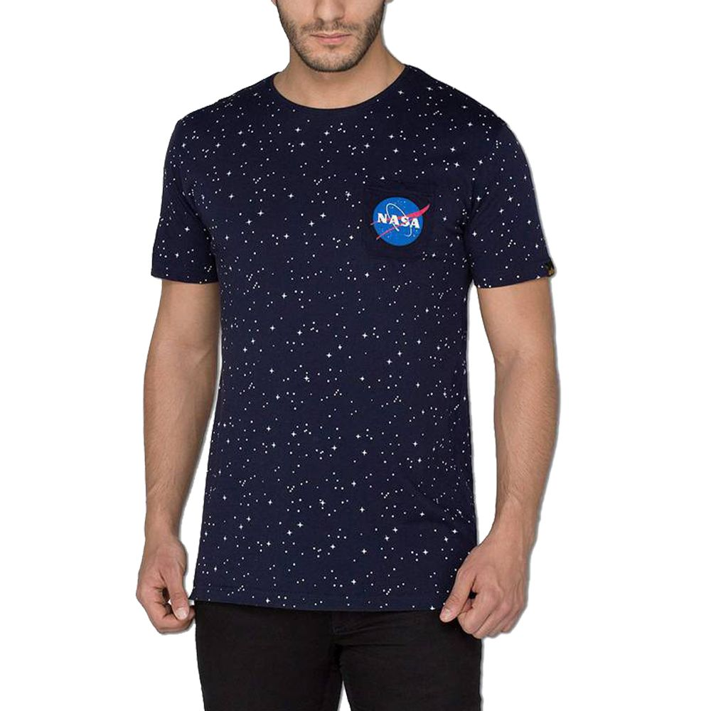 low priced 3689c d89d6 ALPHA INDUSTRIES T-SHIRT STARRY 176509-07 176509