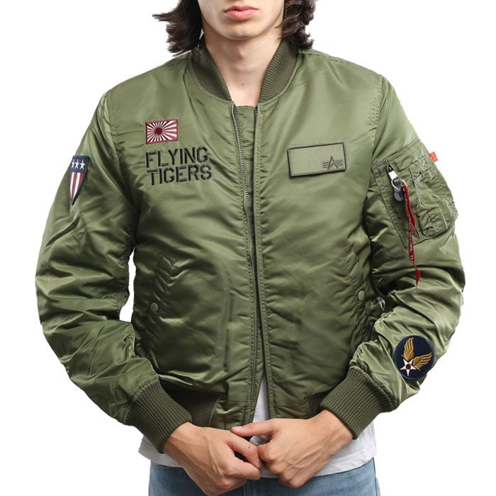ALPHA INDUSTRIES ΜΠΟΥΦΑΝ MA 1 VF FLYING TIGERS 178103-01 178103 ... 7491fed3427