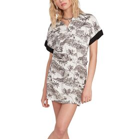 VOLCOM VACAY ME SS DRESS  WOMENS B1312052-SWH B1312052
