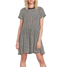 VOLCOM NEWDLES SS DRESS WOMENS WOMENS B1312053-STP B1312053