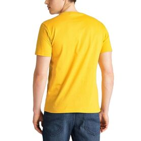 LEE WOBBLY LOGO TEE GOLDEN YELLOW L65QFENF L65QFENF