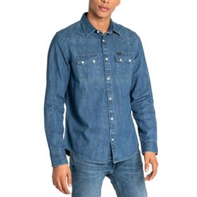 LEE LEE RIDER SHIRT DIPPED BLUE L851PLLA L851PLLA