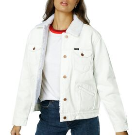 WRANGLER SHERPA FRIENDS JACKE WINTER WHITE W432HQ149 W432HQ149