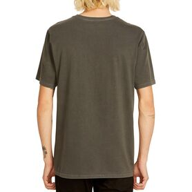 VOLCOM SOLID STONE EMB SS TEE BLOUSE MENS A5211906-BLK A5211906