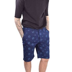 EDWIN SHORTS Rail Short Indigo Poplin Cotton Abstra 024973-00 024973-00