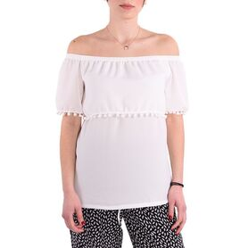 ALAZONIA BLOUSE KLIO OFF SHOULDER TOP AL04W2TS010-18 AL04W2TS010