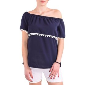 ALAZONIA BLOUSE KLIO OFF SHOULDER TOP AL04W2TS010-33 AL04W2TS010
