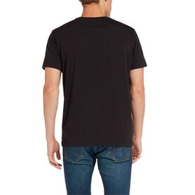 WRANGLER SIGN OFF TEE BLACK W7C07D301 W7C07D301