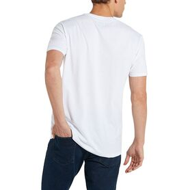 WRANGLER SIGN OFF TEE WHITE W7C07D312 W7C07D312