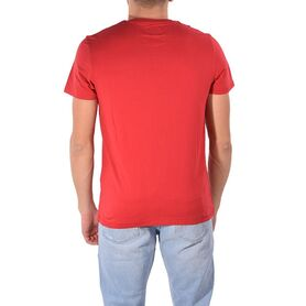 WRANGLER SIGN OFF TEE SCARLET RED W7C07D3UU W7C07D3UU