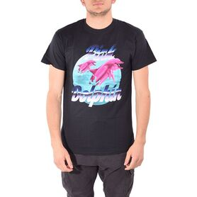 PINK DOLPHIN T-SHIRT AIR BRUSH US11711ABBL US11711ABBL