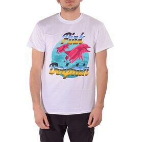 PINK DOLPHIN T-SHIRT AIR BRUSH US11711ABWH US11711ABWH