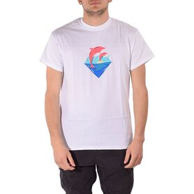 PINK DOLPHIN T-SHIRT WAVES SUNSET US21711WSWH US21711WSWH