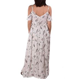 RUT AND CIRCLE DRESS FLOWER LONG 192093-07 192093