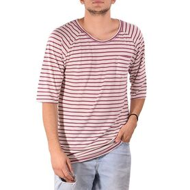 UNITY T-SHIRT NAVY WHITE STRIPES